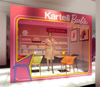 2009, Kartell, Flag Store Milano, Kartell+Barbie Goes Design