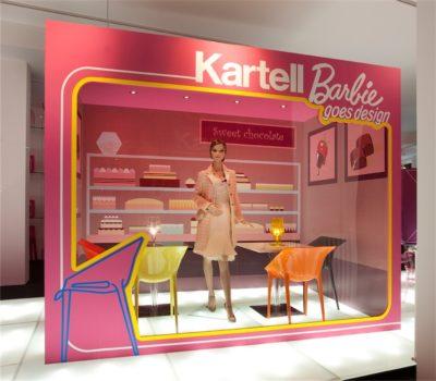 2009, Kartell, Flag Store Milano, Kartell+Barbie Goes Design