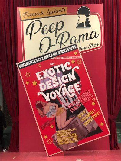 2018, Ferruccio Laviani, Peep O-Rama The Furniture Show