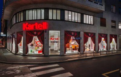 2015, Kartell, Flag Store Milano, vetrine EXPO